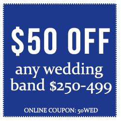 $50 Off Wedding Bands