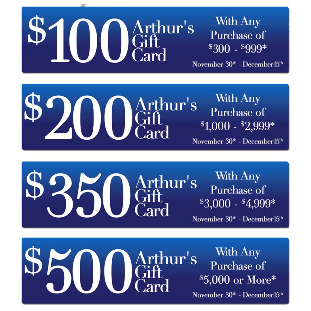 Arthur's Jewelers Gift Cards