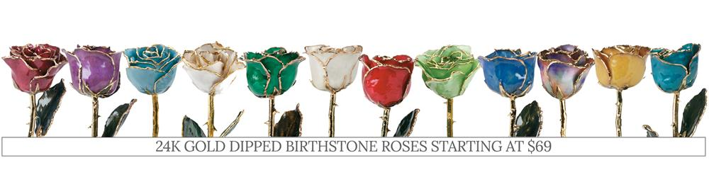 Shop Gold Dipped Roses for Valentine's Day