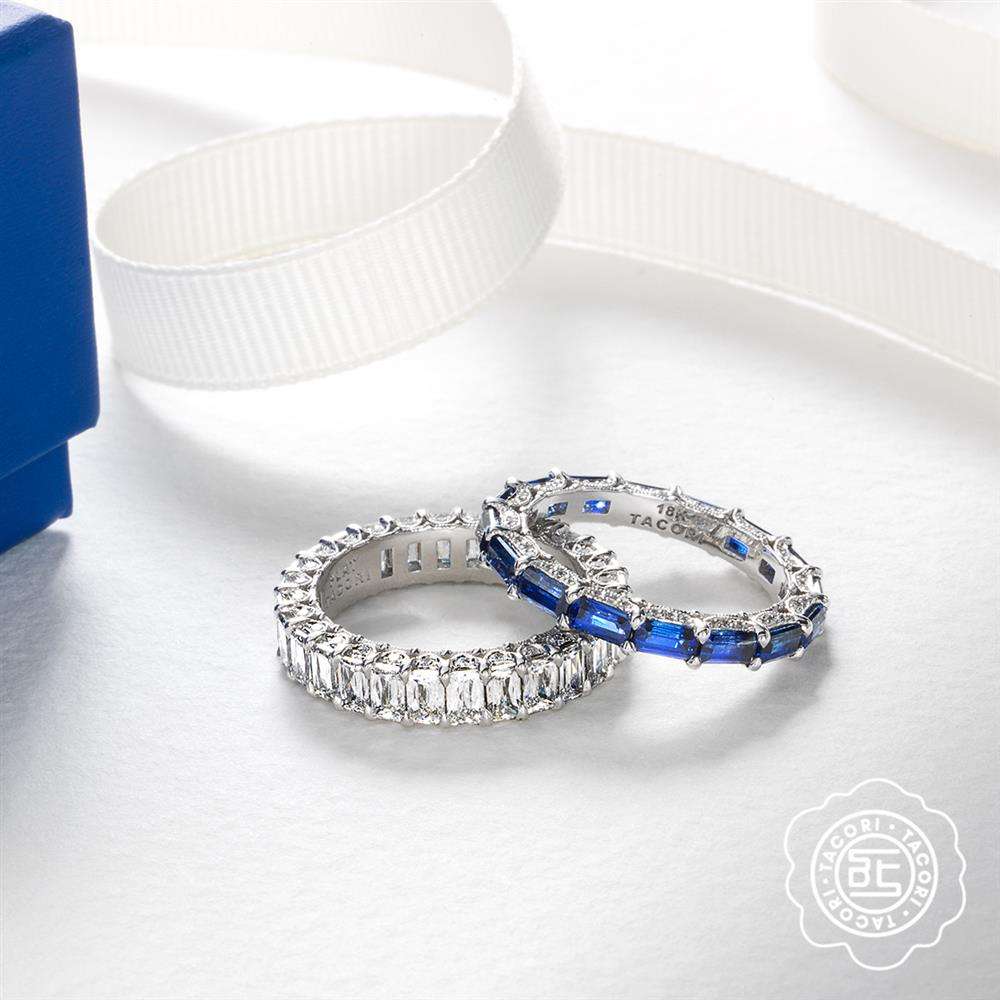 Tacori Sapphire and Diamond Eternity Bands