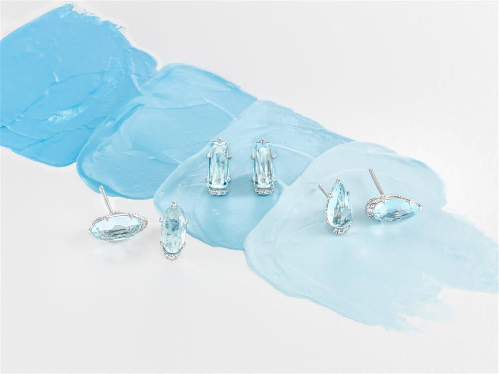 Tacori Horizon Shine Blue Topaz Earrings #ArthursJewelers