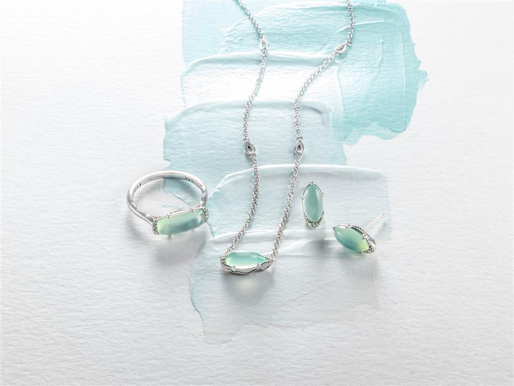 Tacori Horizon Shine Green Chalcedony Jewelry Collection #Tacori #jewelry