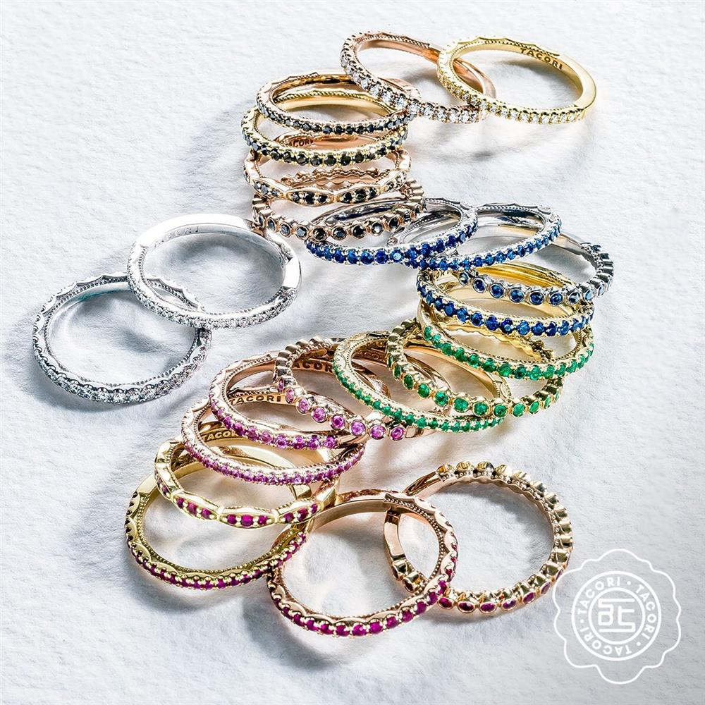 Tacori Rainbow Stackable Rings