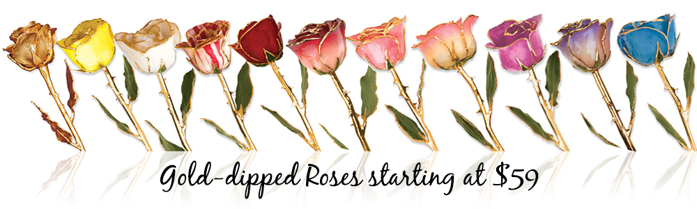 Shop Gold Dipped Roses