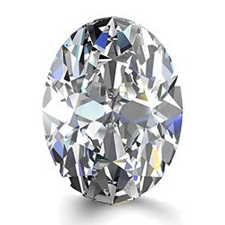 Picture of 1.51ct E-VS1  Cut Oval Diamond