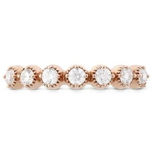 Picture of Diamond Bar Single Prong Milgrain Band Rose