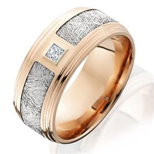 Lashbrook Diamond Meteorite Mens Wedding bands Designer