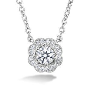 Picture of Lorelei Diamond Halo Pendant