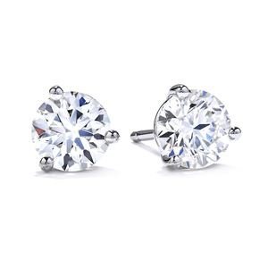 Picture of Three-Prong Stud Earrings .30tw