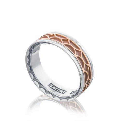 Tacori Plain 18k Rose Gold Mens Wedding Bands Designer Engagement