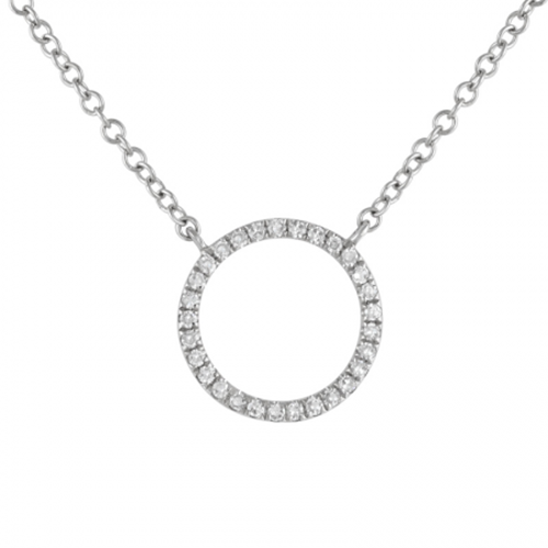 White Gold Diamond Circle Pendant