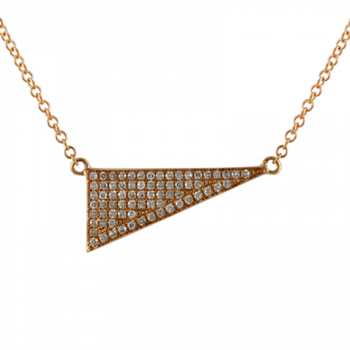 Yellow Gold Diamond Triangle Pendant