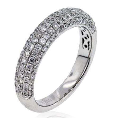 Arthurs Collection Diamond Pave Set White Gold Womens Wedding bands