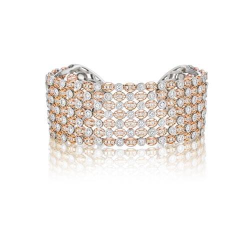 Tacori 18K Rose Gold Diamond Bracelets Designer Engagement