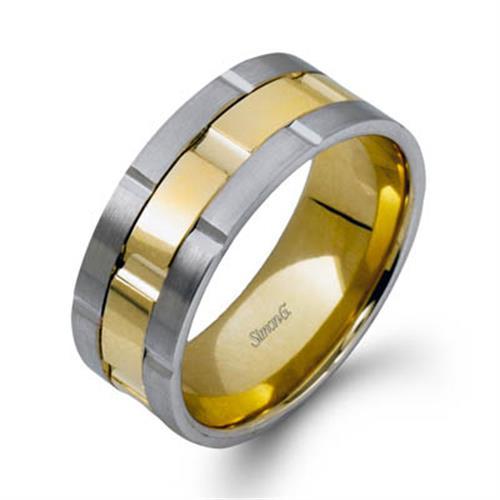 Simon G Plain Yellow Gold Mens Wedding Bands Designer Engagement