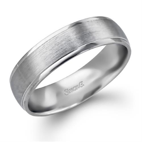 Simon G Plain 18K - White Gold Mens Wedding bands. Designer Engagement Rings    Fine Jewelry  Arthur s Jewelers 134afeb48d43