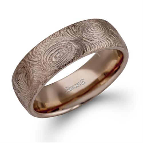 Mens Rose Gold Wedding Band.Simon G Lg129 Plain Mens Bands