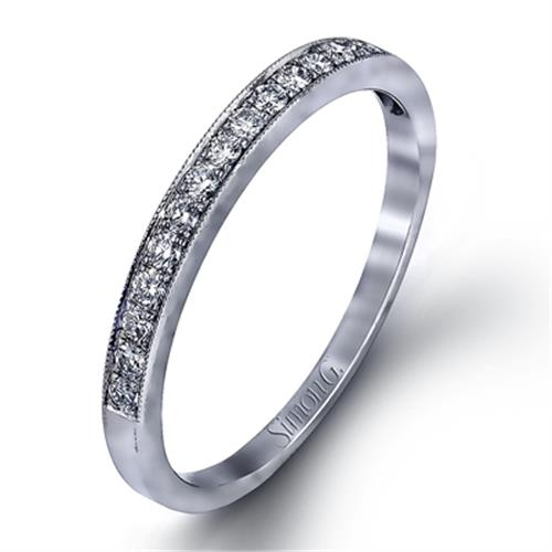 Simon G Lp1031 Pave Set Diamond Wedding Ring