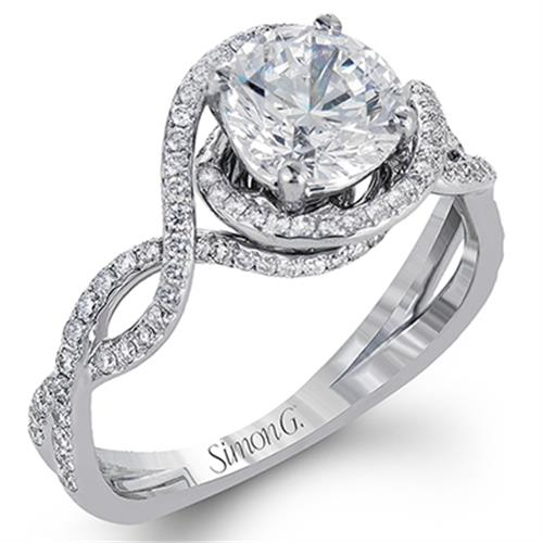 71ae3c696 Simon G Twist 18K - White Gold Diamond Engagement Ring. Designer ...