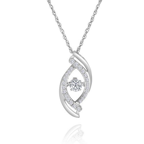 Arthurs collection white gold diamond necklaces designer engagement rhythm of love diamond pendant in 14k white gold aloadofball Image collections