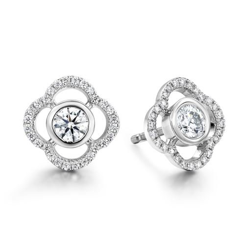 Picture of Signature Petal Bezel Earrings