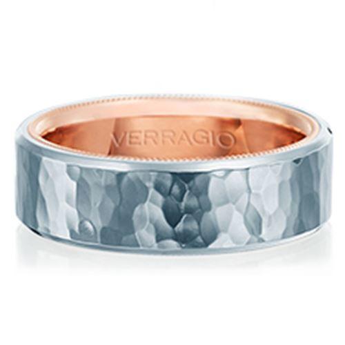 Verragio Plain Rose Gold Mens Wedding Bands Designer Engagement