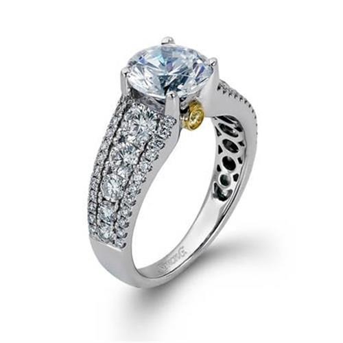 Simon G MR1694-AE Side Stone - Channel Set Round Diamond Engagement Ring