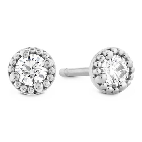 Picture of Liliana Milgrain Single Diamond Earrings