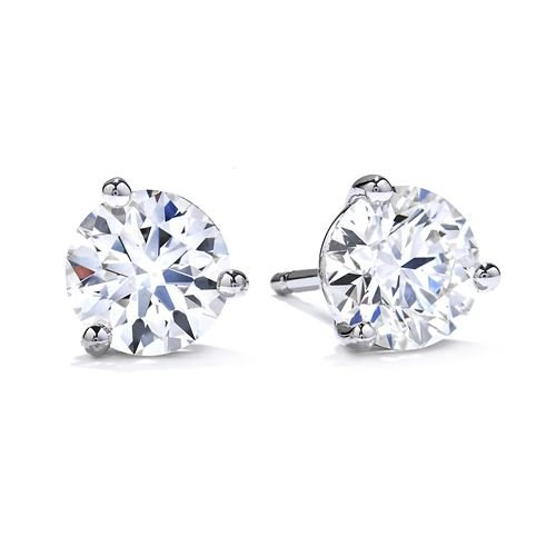 Picture of Three-Prong Stud Earrings .96tw