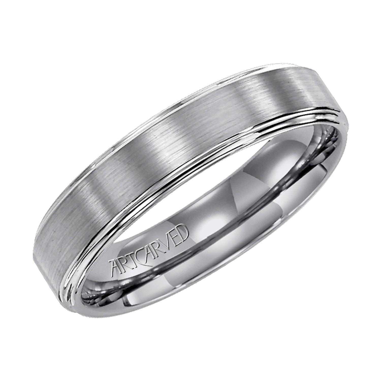 Artcarved Plain Tungsten Carbide Mens Wedding Bands Designer Engagement Rings Fine Jewelry Arthur S Jewelers