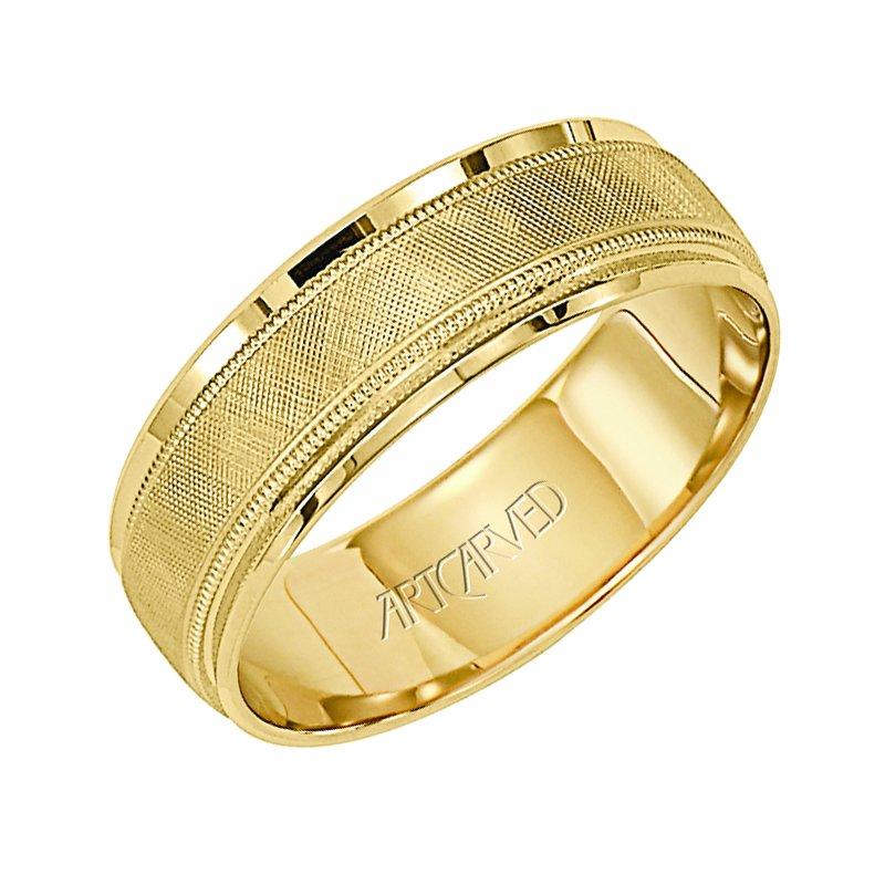 Artcarved Plain Yellow Gold Mens Wedding Bands Designer Engagement