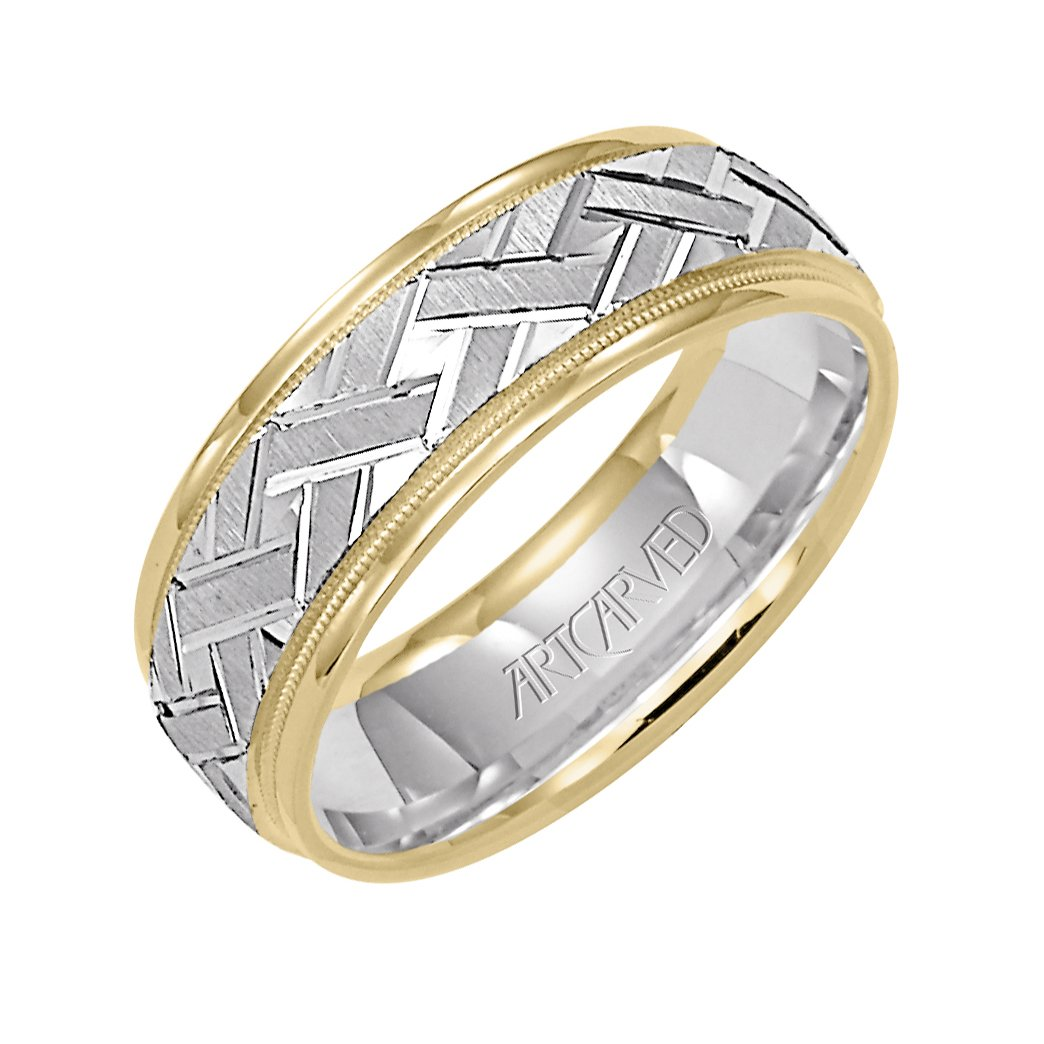 Artcarved Plain White Gold Mens Wedding Bands Designer Engagement Rings Fine Jewelry Arthur S Jewelers