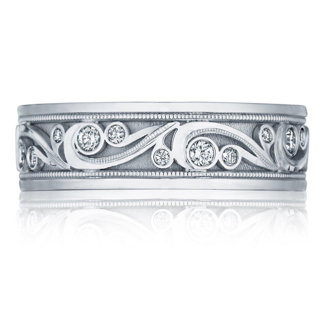 Tacori Diamond Platinum Mens Wedding Bands Designer Engagement