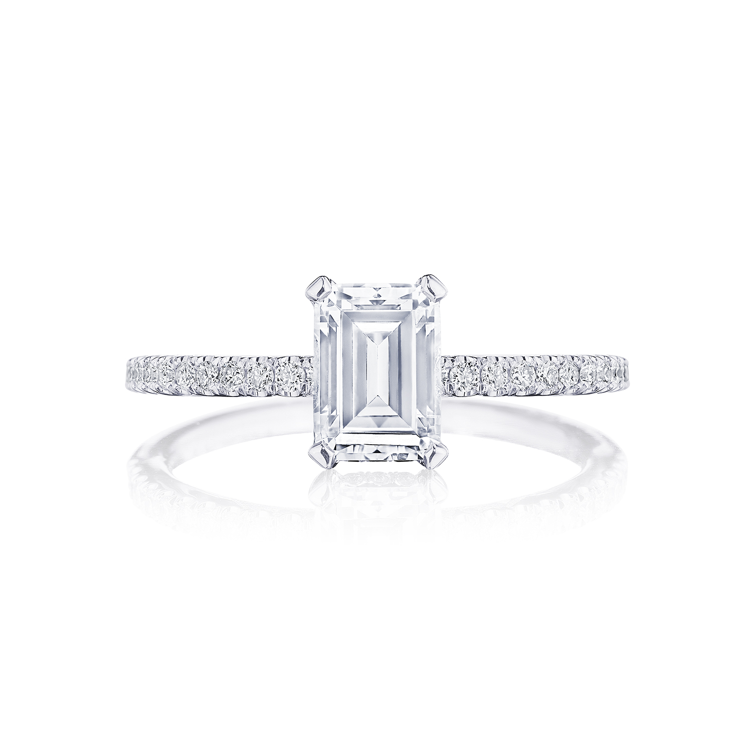 Tacori Side Stone Pave Set 18k White Gold Diamond Engagement Ring Designer Engagement Rings Fine Jewelry Arthur S Jewelers