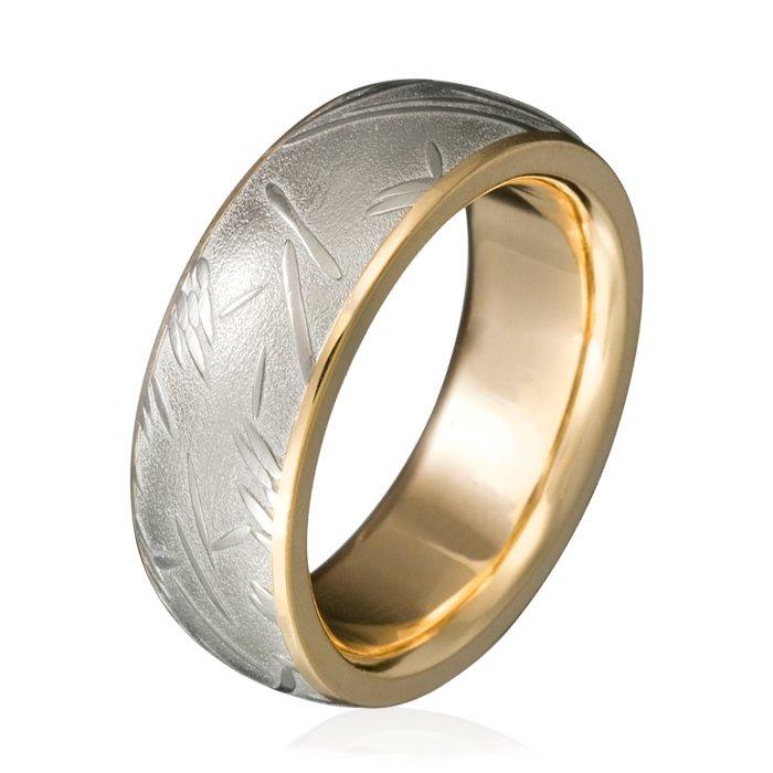 Chris Ploof Plain Damascus Steel Mens Wedding Bands Designer
