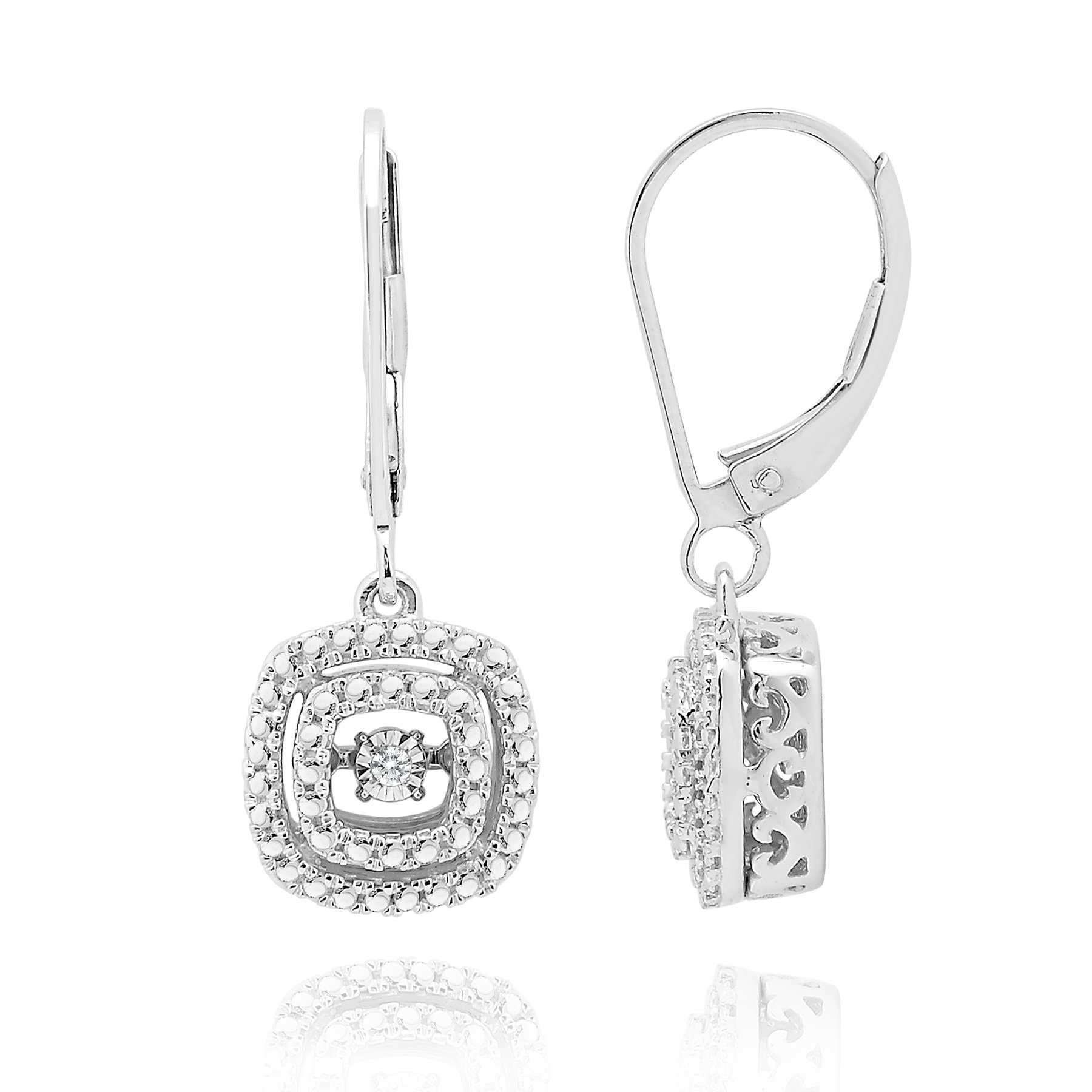 2bd5bf22f5377 Rhythm of Love Diamond Earrings in sterling silver