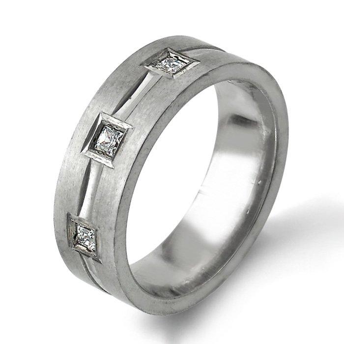 Arthurs Collection Diamond White Gold Mens Wedding bands Designer