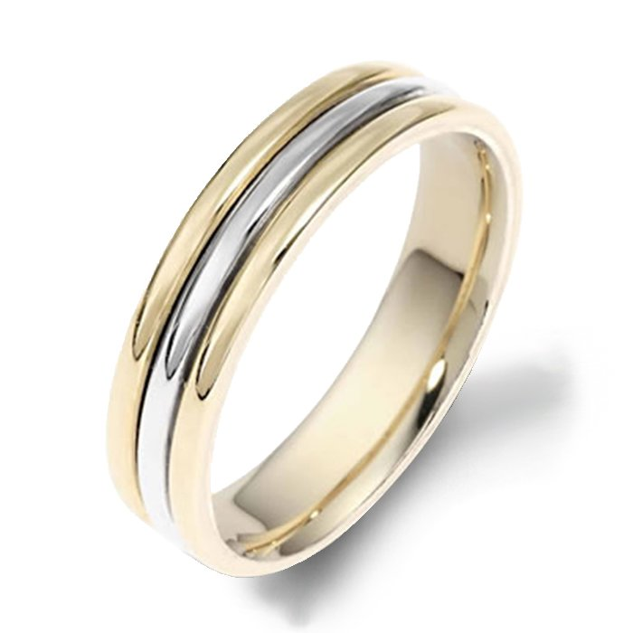 Dora Plain Yellow Gold Mens Wedding bands Designer Engagement