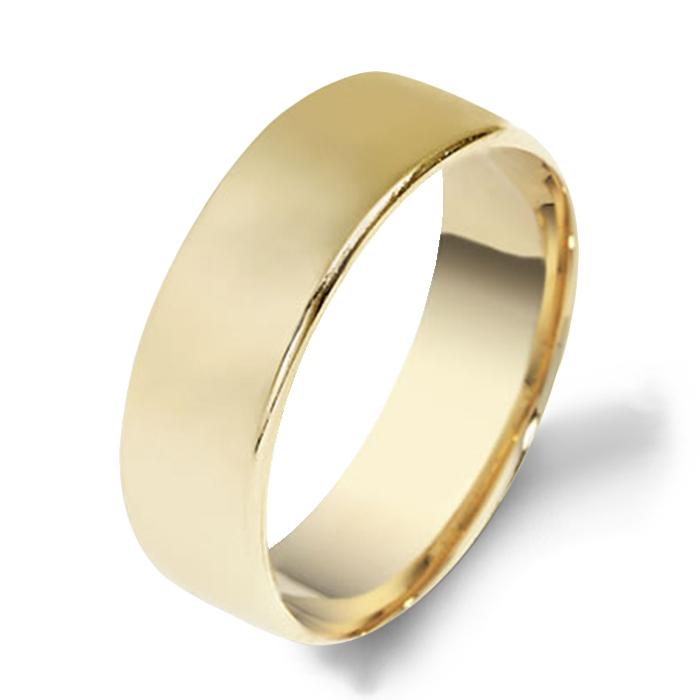 Dora Plain Yellow Gold Mens Wedding Bands Designer Engagement Rings