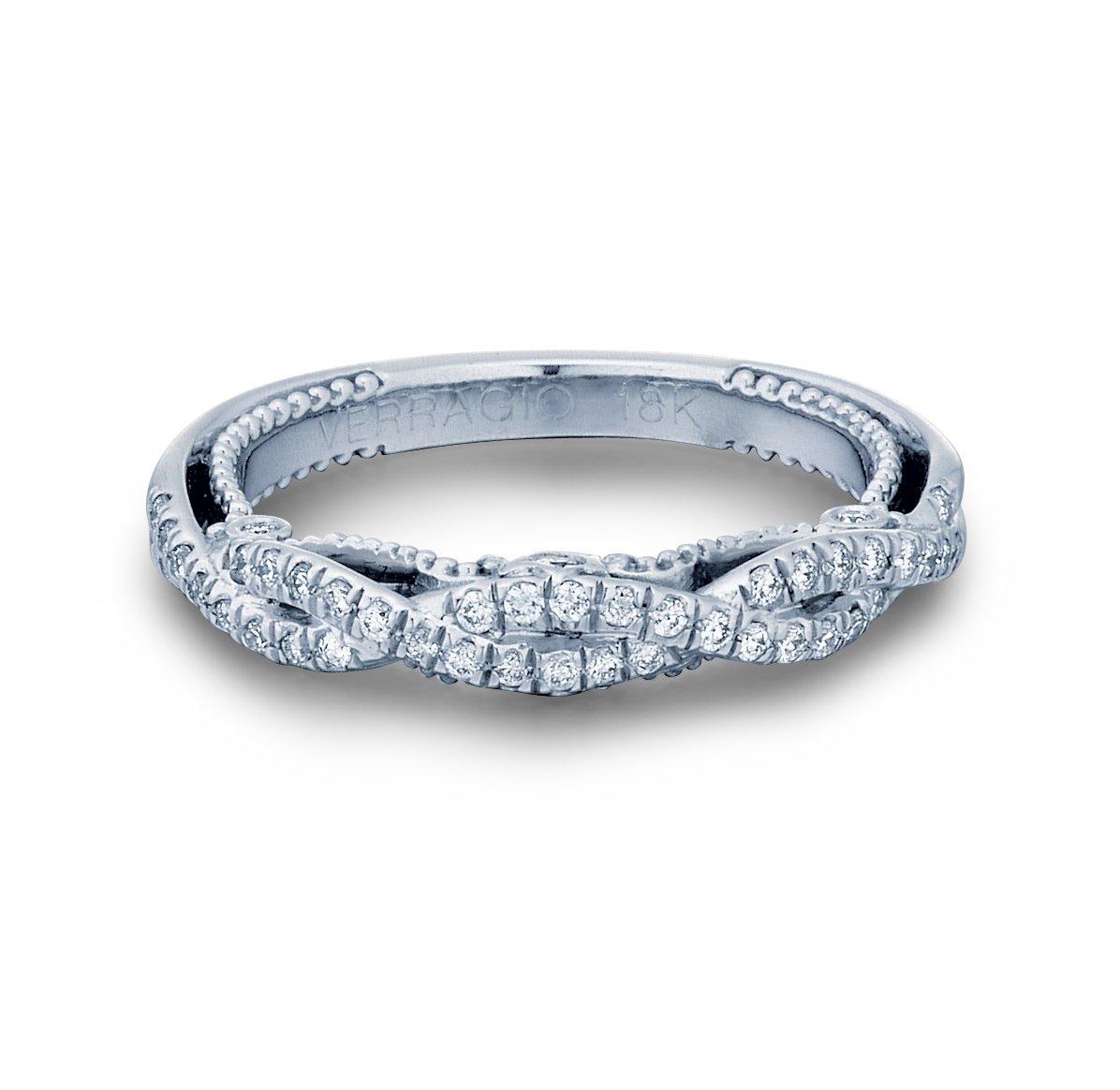 9f40237b2e7 VERRAGIO Diamond Curved White Gold Womens Wedding bands. Designer Engagement  Rings   Fine Jewelry  Arthur s Jewelers
