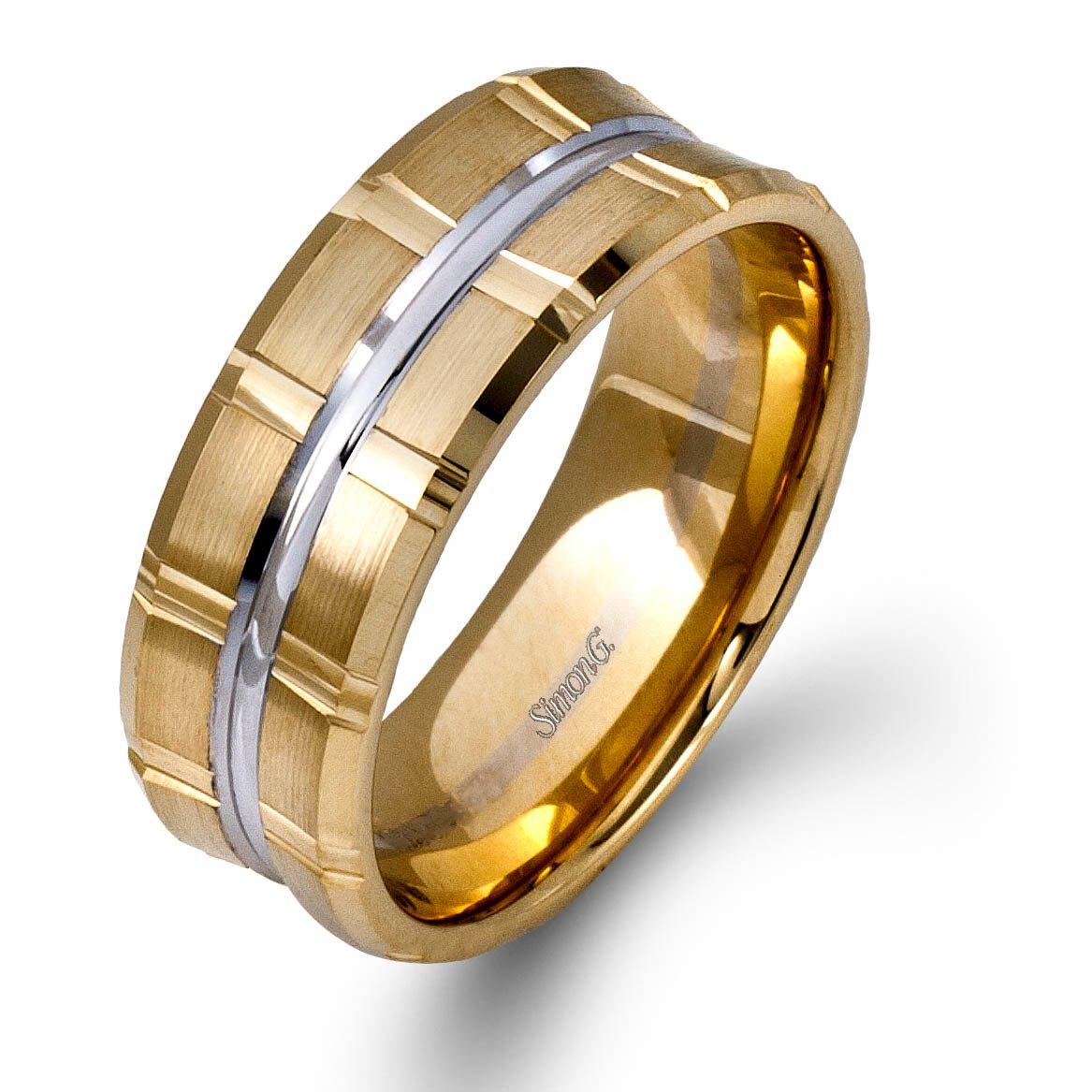 3c6e94e9832 Simon G Plain Yellow Gold Mens Wedding bands. Designer Engagement Rings    Fine Jewelry  Arthur s Jewelers