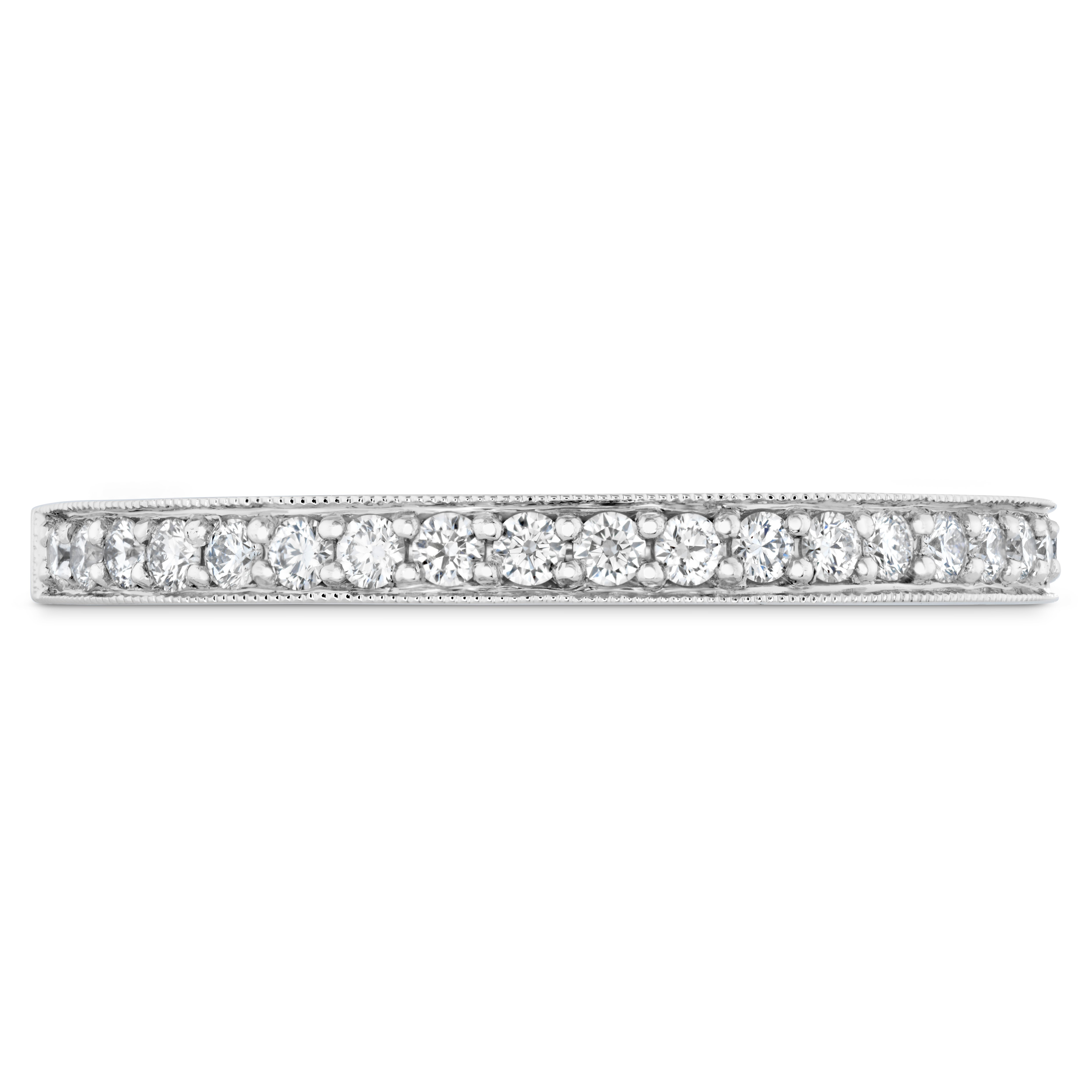 milgrain ring wedding hand engraved band eternity rings in diamond with white gold designs top side