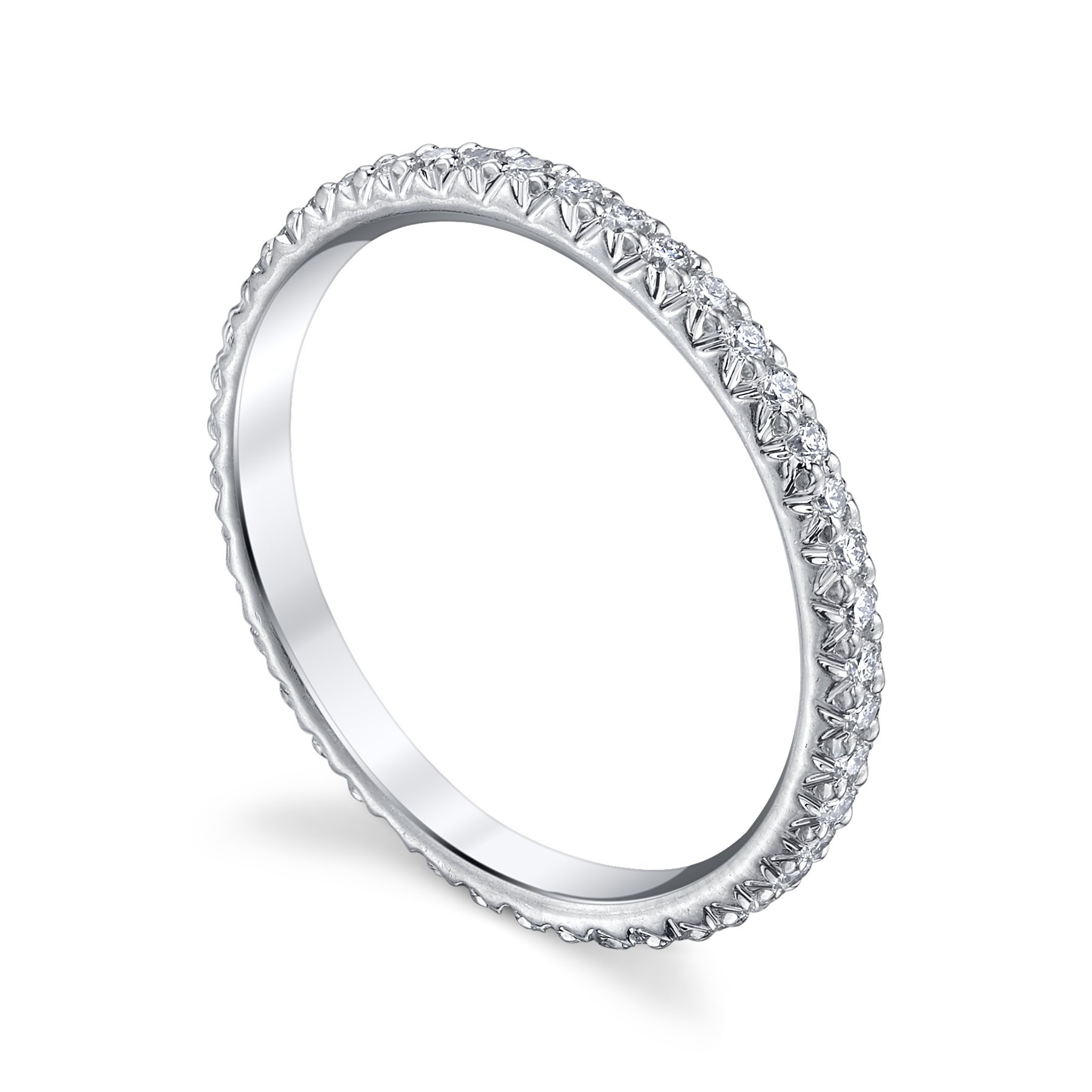 of just platinum eternity lovely channel white gold band diamond princess bands tw wedding perfect cut in awesome
