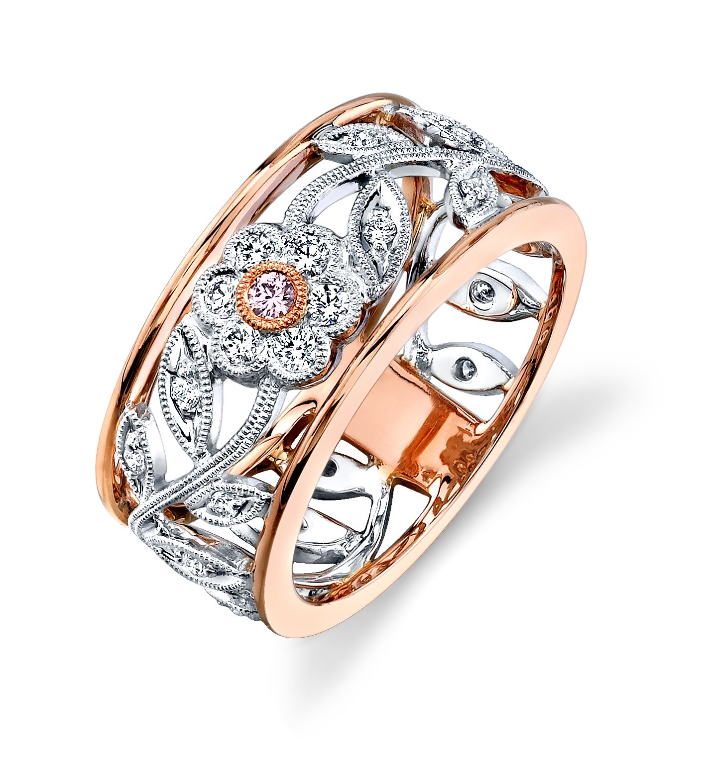 rings engagement tacori rose gold designed