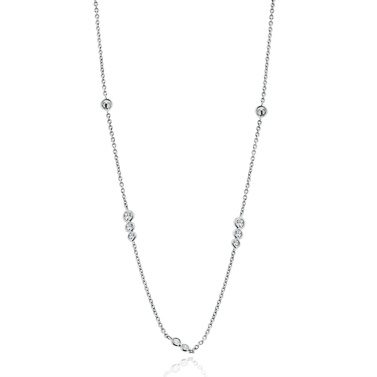 bf39a57599a Arthurs Collection 18K - White Gold Diamond Necklaces. Designer ...