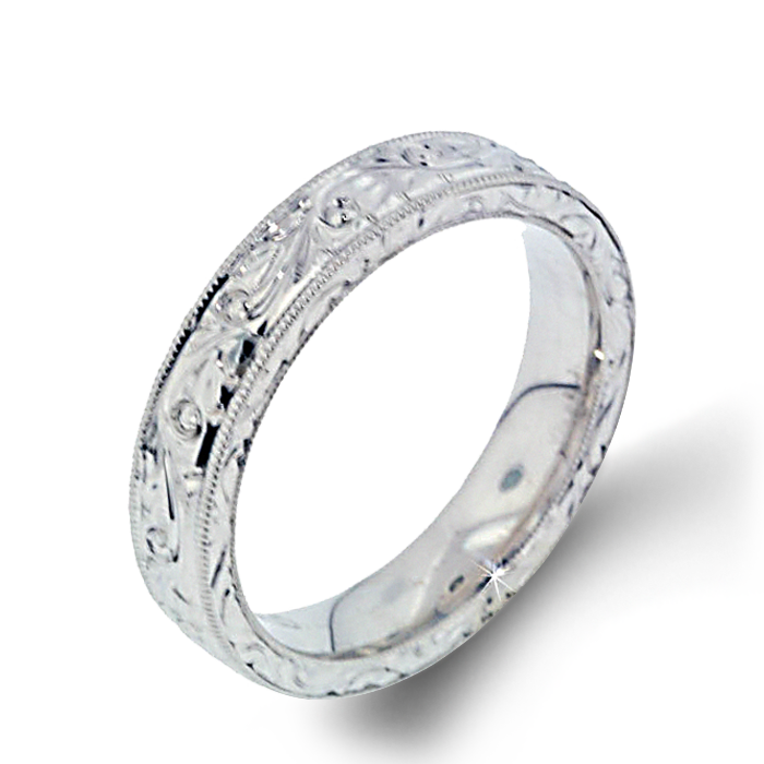 Arthurs Collection Plain White Gold Womens Wedding bands. Designer