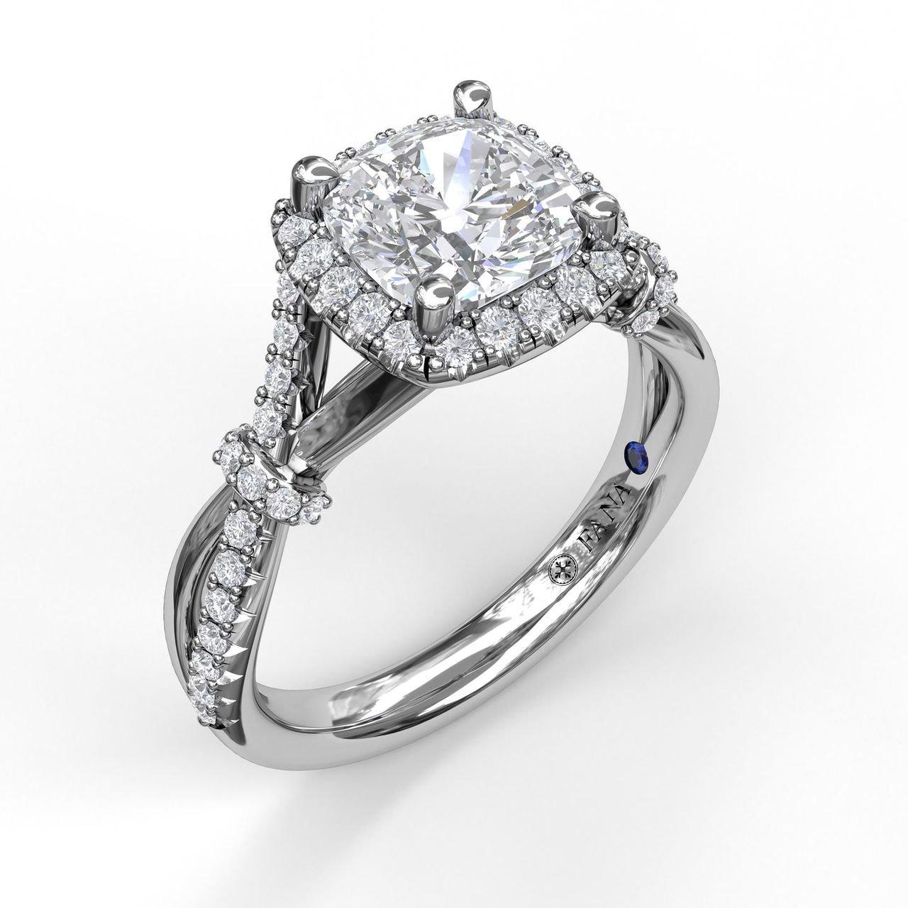 137da4e513330 Fana S3060 Halo and Twist Diamond Ring