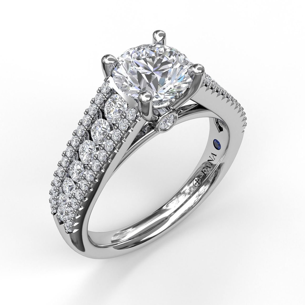 fine dainty diamond engagement ring in white gold