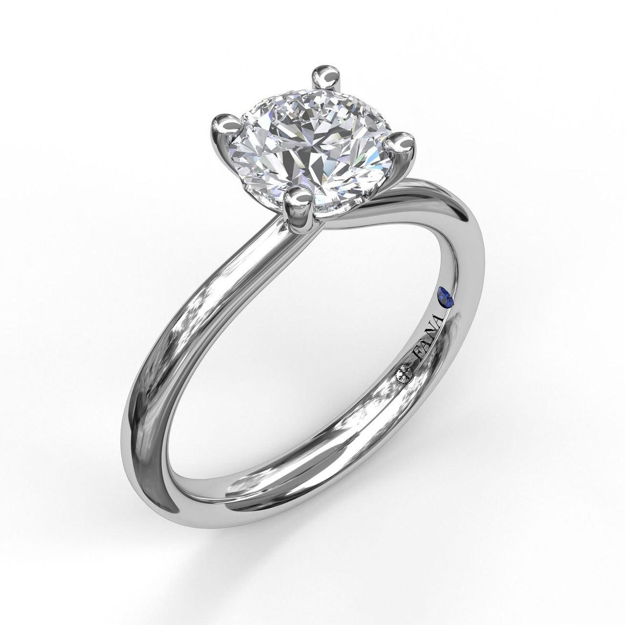 Fana Solitaire White Gold Diamond Engagement Ring Designer Engagement Rings Fine Jewelry Arthur S Jewelers