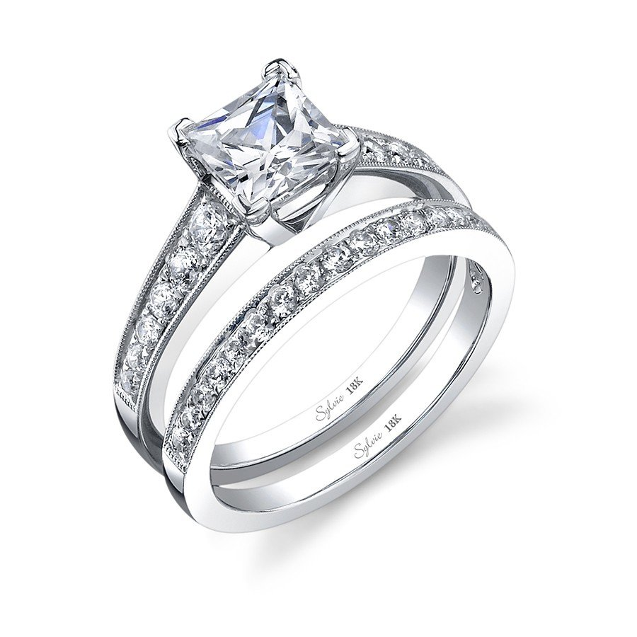 rings pr wedding cut diamond settings setmain princess luxury